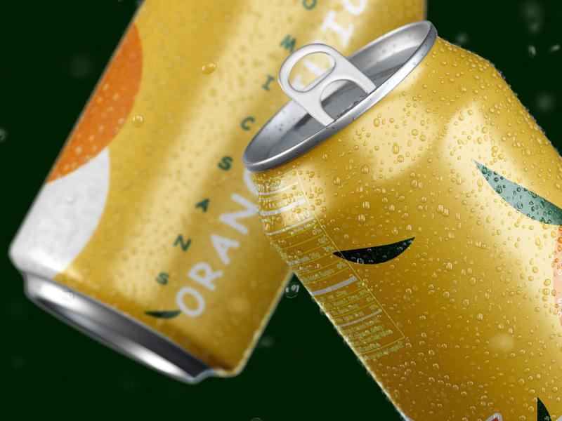COMIC SANS ORANGE JUICE CAN illustrator comic sans typography editing brand identity tin can mockup can orange huice orange huice juice packaging branding photoshop
