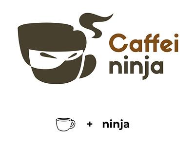 caffeininja 01 photoshop coffee cup branding coffee logo coffee