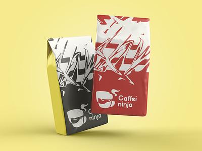 caffeininja 02 seo packaging branding photoshop coffee shop coffeelogo coffee
