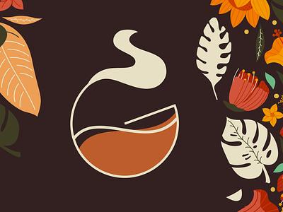 Coffee Logo illustrator advertising design branding typography editing photoshop monograms monogram design darkroast brown coffee monogram logo minimal monogram