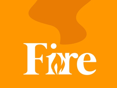 VERBICON Fire vector illustrator editing branding photoshop font typography iconography orange fire minimalist logo minimalist minimal verbicons verbicon