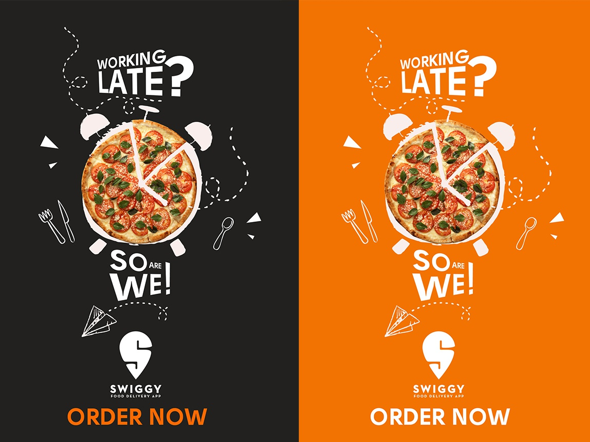 Late Night Food Delivery App Advertisement by Sushmita