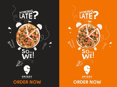 Late Night Food Delivery App Advertisement