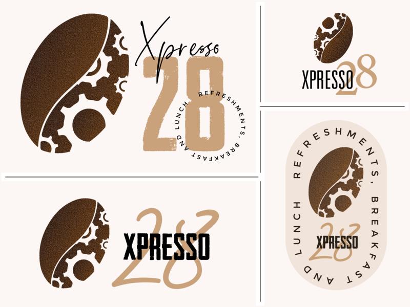 Coffee House Logo Variations flat browns fonts typography automobile coffee bean editing app web icon logodesign coffee shop coffee advertising logo vector illustrator design branding photoshop