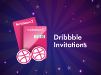 Two Dribbble Invitation