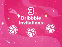 3 dribbble Invites for giveaway