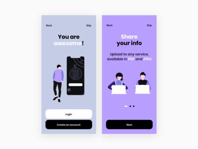 Onboarding branding typography interface application app ui ux design sketch ios onboarding