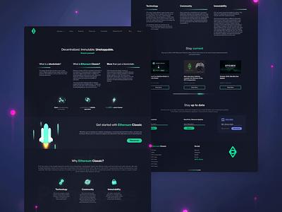 ui concept cryptocurrency dark web landing concept