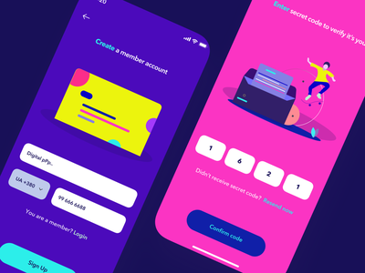 daily ui/sign up page simple app application ios app daily ui sweet ux ui rounded custom interface illustration violet pink flat bright apple ios