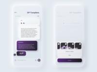 app messenger | [ skeuomorphism 2.0 ] | [ neumorphism ]