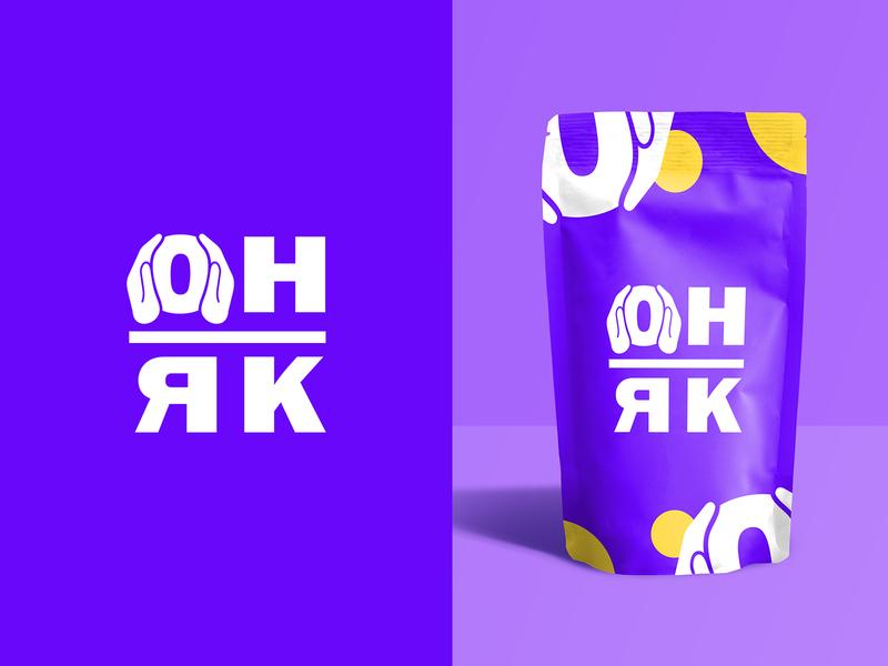 Он-Як vector mark logotype font logo icon identity identity design logodesign logo illustration designer design branding
