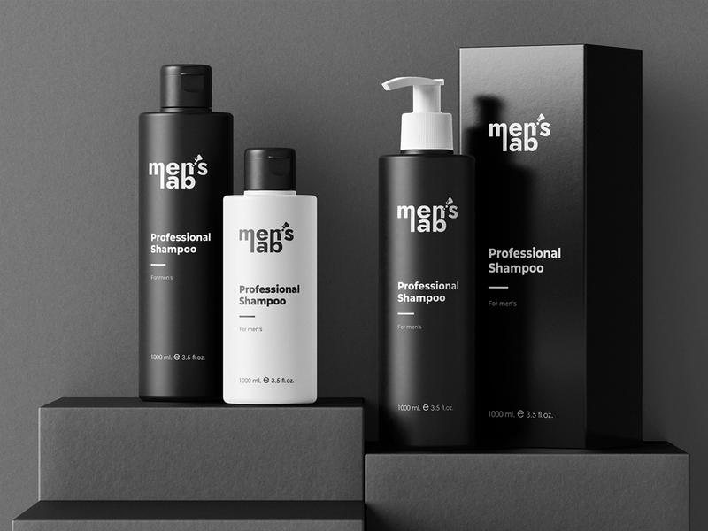 Logo Men`s Lab minimal logo men cosmetic cosmetic laboratory lab men logo menu logodesign typography font logo identity icon mark logo mark illustration designer branding
