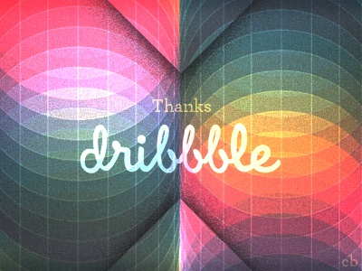 > Thanks! < thank you dribble thanks circles lines vintage noise colors triangle cult