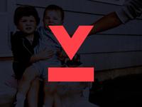 Vinyl Line Logo Mark Concept