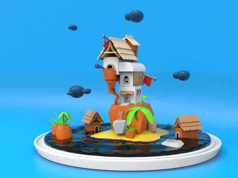 Bell Jar Universe Final light keyshot render new design model 3d modeling cinema4d