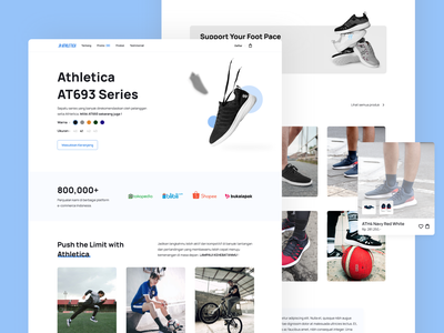 Athletica Landing Page - Exploration web redesign design ui