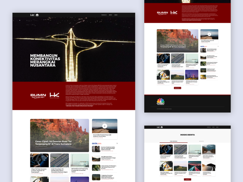 News Aggregator Microsite - Hutama Karya user interface bumn hk news user ui detikcom design