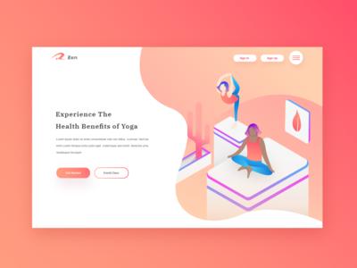 Yoga Web Design Concept