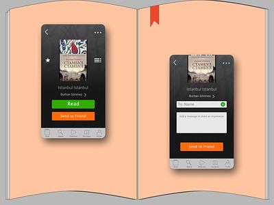 LitRes (Read! app) redesign reading app ui  ux redesign concept