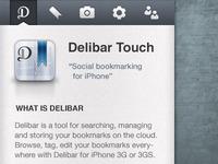 Delitouch mobile website