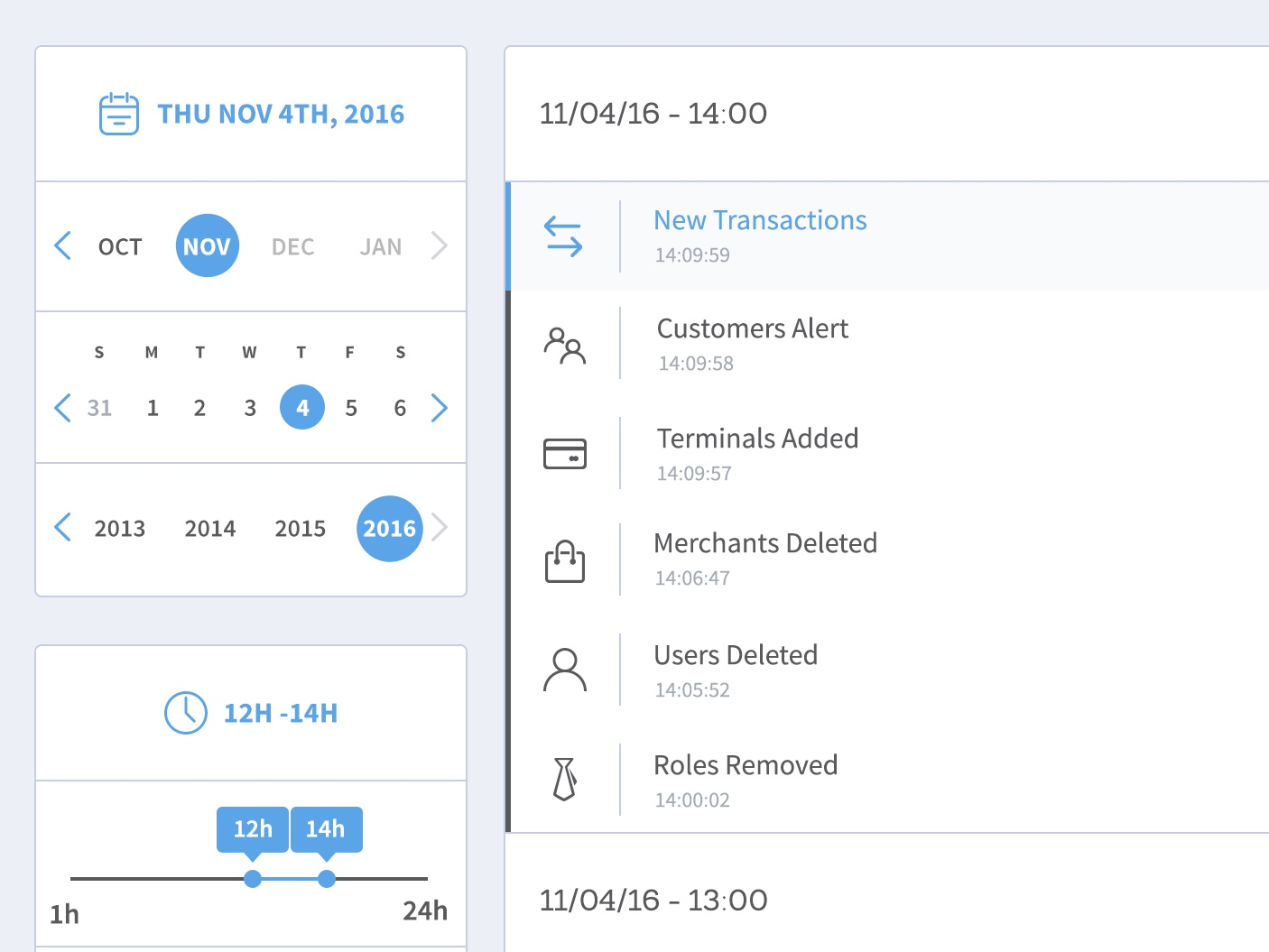 Date & Time Filters filters time picker date picker