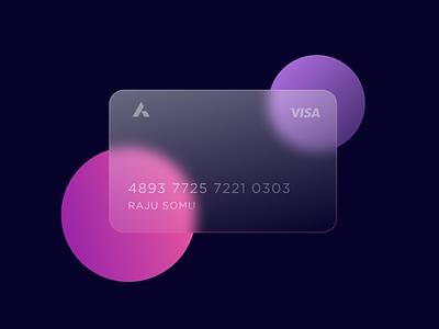 Glass Card - Rebound uxdesign uidesign figmadesign figma cards ui glass glasscard card