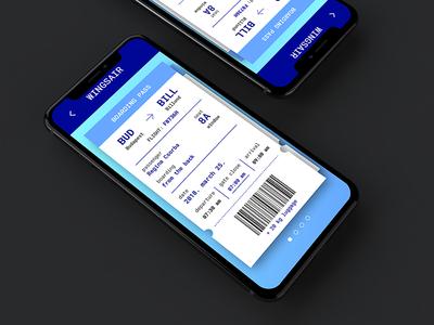 Boarding Pass design - UI challenge mockup user interface ux design agency boarding pass mobile app ios ui challange ux ui