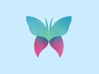 Butterfly animal butterfly simple vector icon illustration design