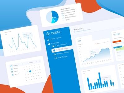 CARTA app / Dashboard UI elements