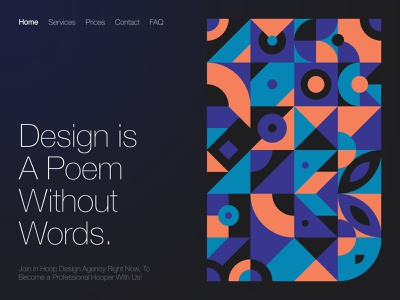 Hoop Agency Dark & Light Design ui ux landing page landing dark theme dark mode dark ui dark persian ui web design design persian webdesign uxdesign ux uidesign ui iran