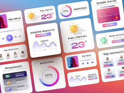 Light UI Kit by PelaTeam uikits ui kit uikit dark light dark mode web design persian ui iran persian webdesign ux uxdesign uidesign ui