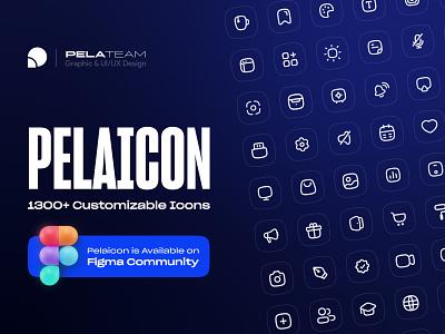 Pelaicon - 1300+ Fully Customizable & Free Icons lightmode darkmode iconset iconpack pelateam pelaicon icondesign icon ux persian webdesign iran uxdesign uidesign