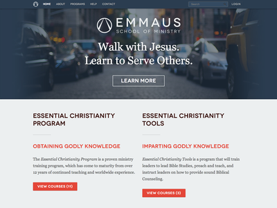 Emmaus SOM Website website responsive