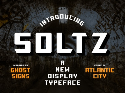 Soltz Typeface typedesign typography type display font typeface
