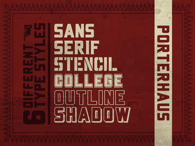 Porterhaus Typeface Family: Coming Soon fonts type design lettering letters type typeface font