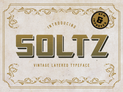 Soltz Layered Typeface Update shadow typography type gradient layered font typeface