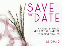 Sauvage Font Save The Date Sample