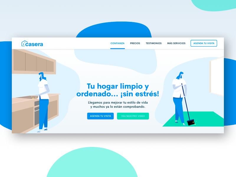 Casera - Landing Page hero illustration startup landing page