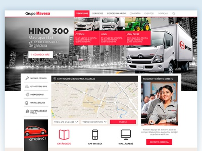 Mavesa redesign 2014 redesign car motor landing page concept ux ui