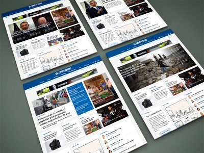 Diario El Universo ui ux breaking news home page layout mockup sketch redesign news newspaper