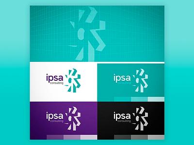 Ipsa Consulting (2016) typography market brand 3d branding vector logo