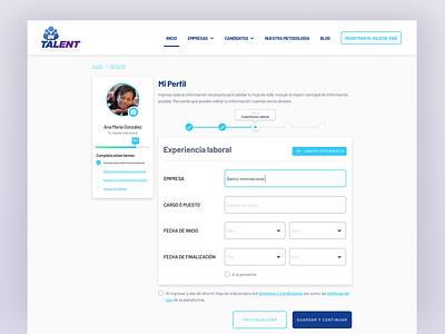 Application Form desktop design responsive jobsite form ui ux human resources