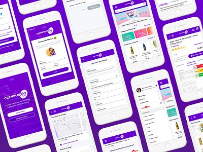 ComprasGO   App UI Design layout clean design ux ui marketplace