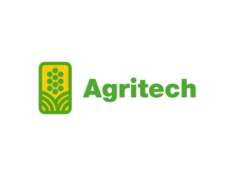 Agritech connected bluetooth wifi corn tech logo internet of things iot technology agriculture