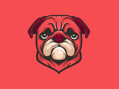 PUG illustration mascot branding esport artwork vector brandidentity design logo bulldog dog pug