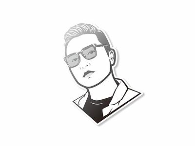Social Media Profile Picture vector cartoon minimalist avatar flat simple picture profile social media