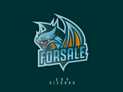 Dragon sizokhu wing esportslogo blue dragoon cartoon brand esports esport logo