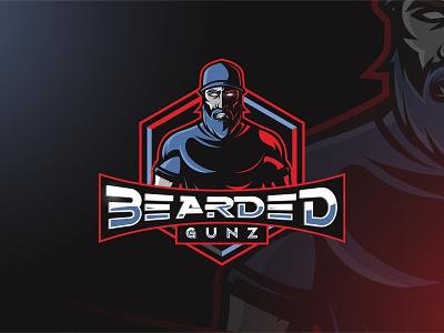 Bearded Gunz gunz hat beard character mascot esports esport vector artwork brandidentity logo