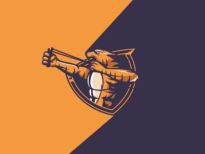 Slingshot Tiger catapult tiger graphicdesign illustration mascot esports esport vector branding ai design brandidentity logo slingshot