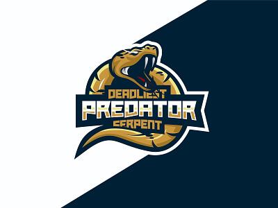 Serpent dragon fiverr mascot esports vector esport branding artwork design brandidentity logo snake preadator serpent